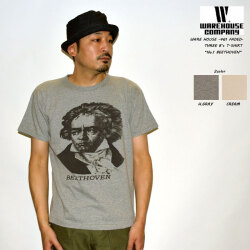 """WAREHOUSE ウエアハウス 2ND-HAND """"4064 THREE B's T-SHIRT NO.1 BEETHOVEN"""" プリントS/STee セコハン [S/STee]"""