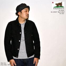 """TCB jeans """"TCB 50's Jacket Black&Black"""" 14oz 2nd ブラックデニムジャケット 2ndタイプGジャン ブラックデニム [アウター]"""