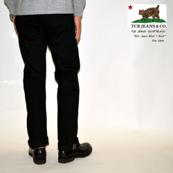 "TCB jeans ""TCB 50's PANTS Black/Black"" 50's ストレート ブラックデニム [ミドルストレート] [ライトオンス] [ヴィンテージ系色落ち]"