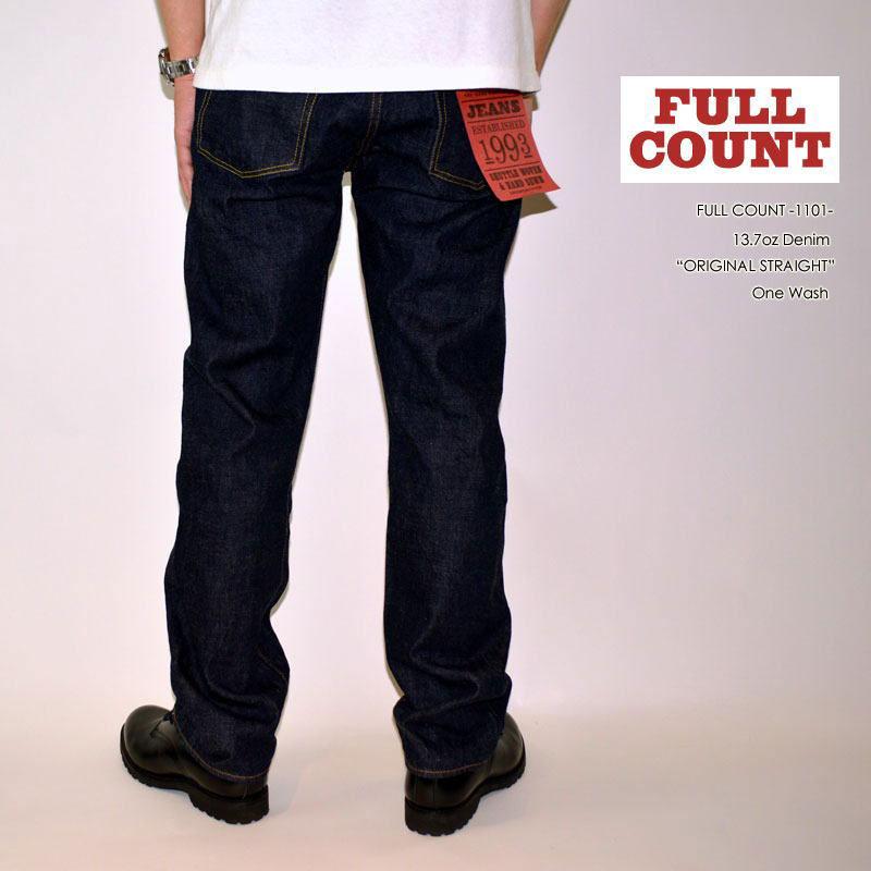 "FULLCOUNT フルカウント、""1101""、ORIGINAL STRAIGHT オリジナルストレート [ルーズストレート] [ライトオンス] [ヴィンテージ系色落ち]"