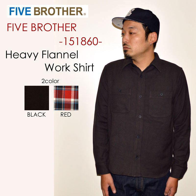 """FIVE BROTHER ファイブブラザー、""""151860""""、ヘビーネルワークシャツ [L/Sシャツ]"""