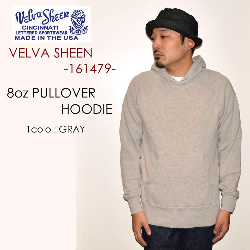 "Velva Sheen ベルバシーン、""161479""、8oz. PULLOVER HOODIE、8oz プルオーバーパーカー [スウェット]"