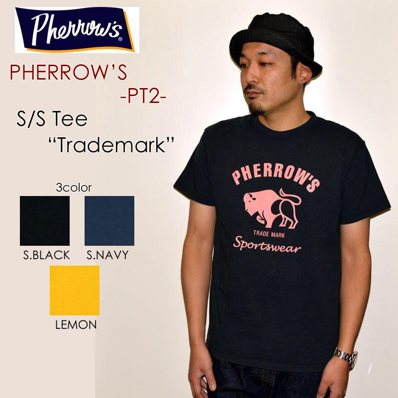 "PHERROW'S フェローズ、""PT2""、トレードマークTee [S/STee]"