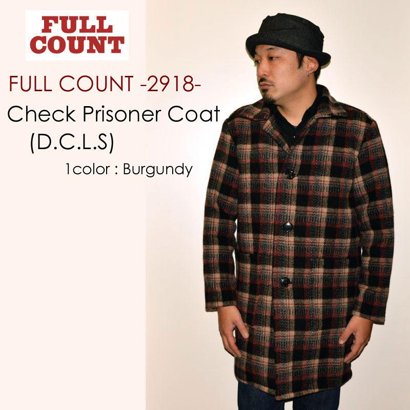 "FULLCOUNT フルカウント、""2918""、CHECK PRISONER COAT (D.C.L.S) チェックプリズナーコート [アウター]"