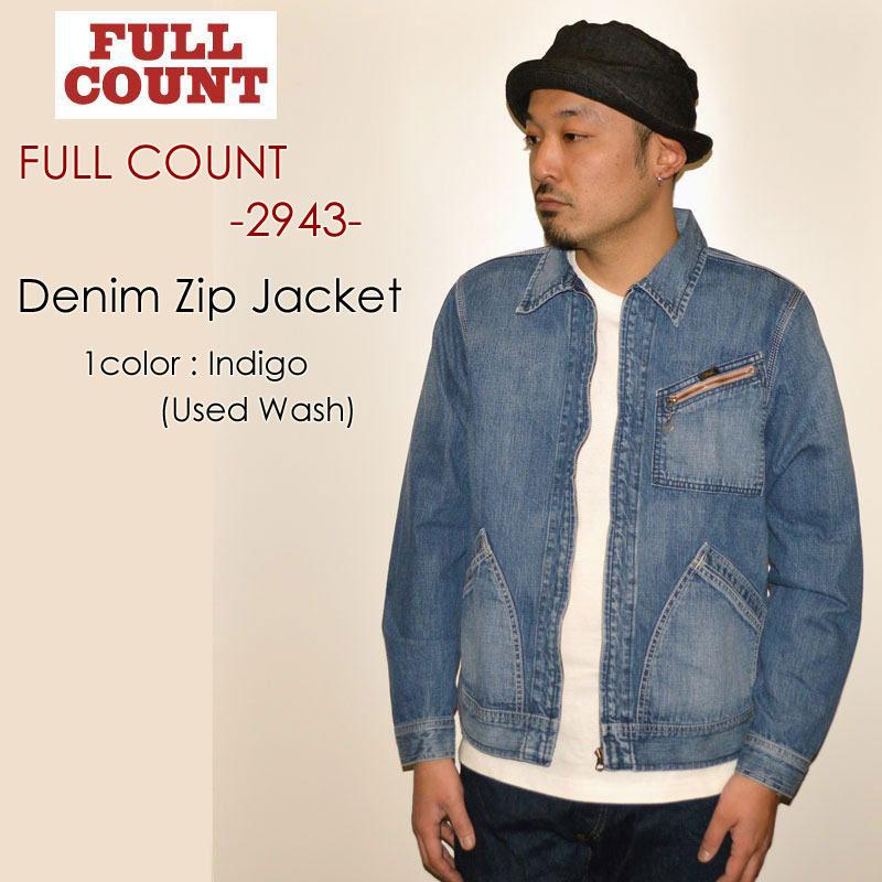 "FULLCOUNT フルカウント、""2943""、Denim Zip Jacket デニムジップジャケット [アウター]"