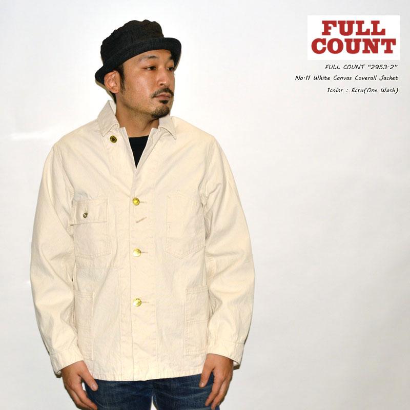 """FULLCOUNT フルカウント """"2953-2"""" No.11 White Canvas Coverall Jacket ホワイトキャンバスカバーオールジャケット [アウター]"""
