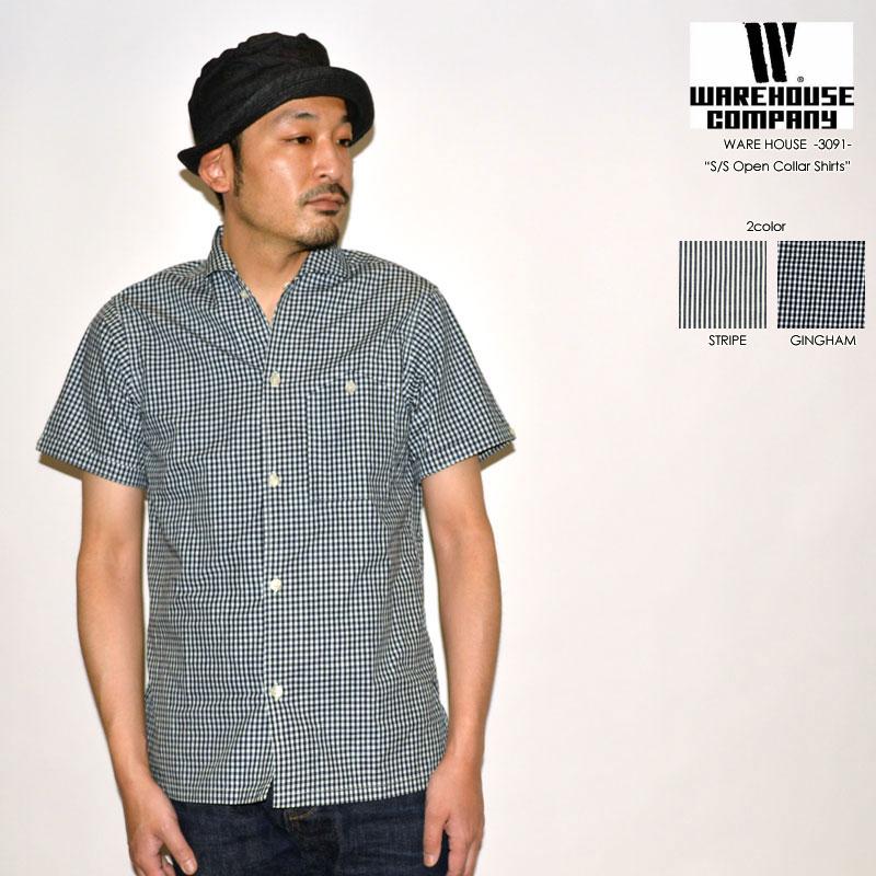 "WAREHOUSE ウエアハウス ""3091"" S/Sオープンカラーシャツ [S/Sシャツ]"