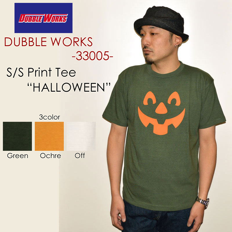 "DUBBLE WORKS ダブルワークス、""33005 HALLOWEEN""、プリントS/STee [S/STee]"