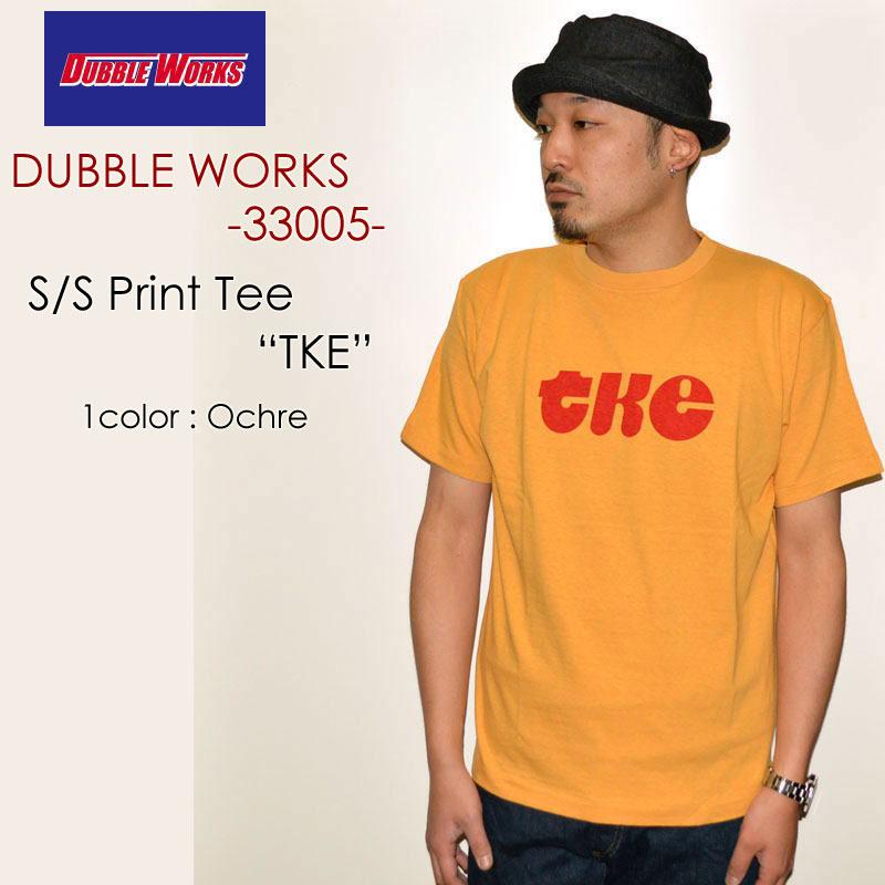 "DUBBLE WORKS ダブルワークス、""33005 TKE""、プリントS/STee [S/STee]"