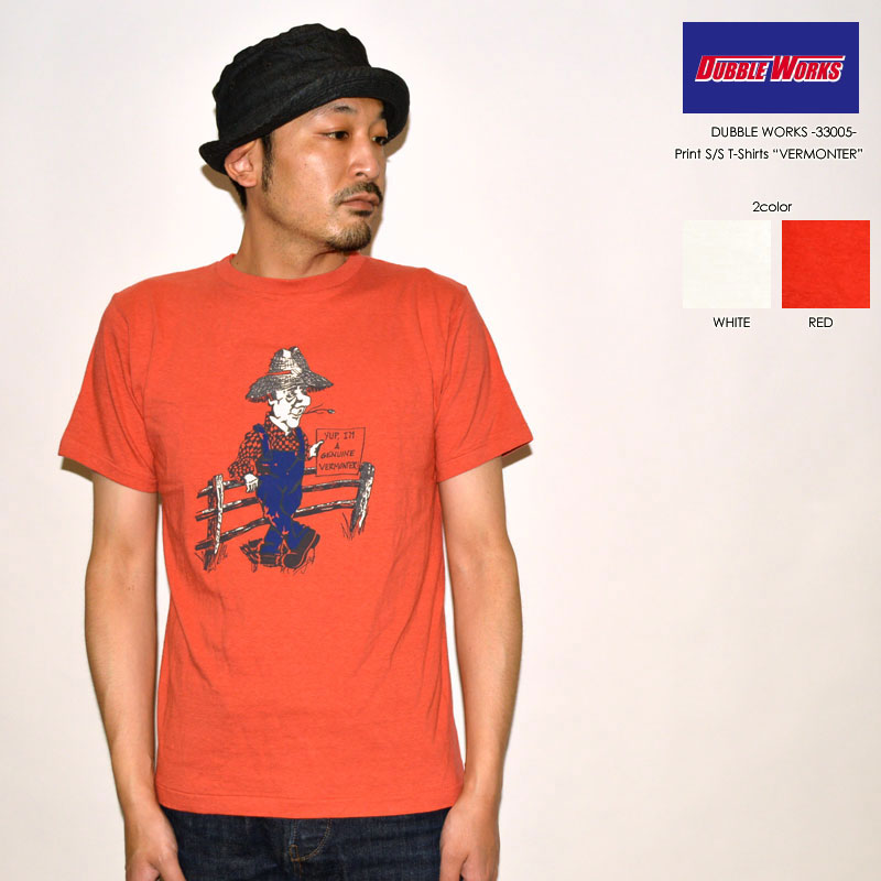 """DUBBLE WORKS ダブルワークス、""""33005 VERMONTER""""、プリントS/STee [S/STee]"""