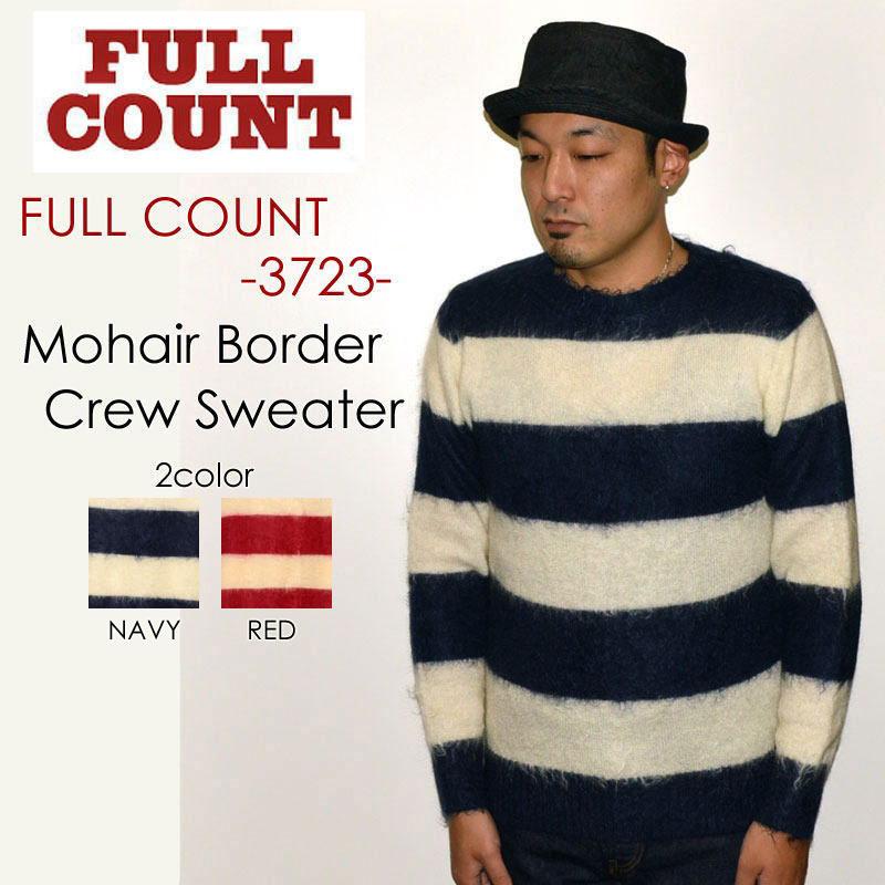 """FULLCOUNT フルカウント、""""3723""""、MOHAIR BORDER CREW SWEATER、モヘアボーダークルーセーター [スウェット]"""