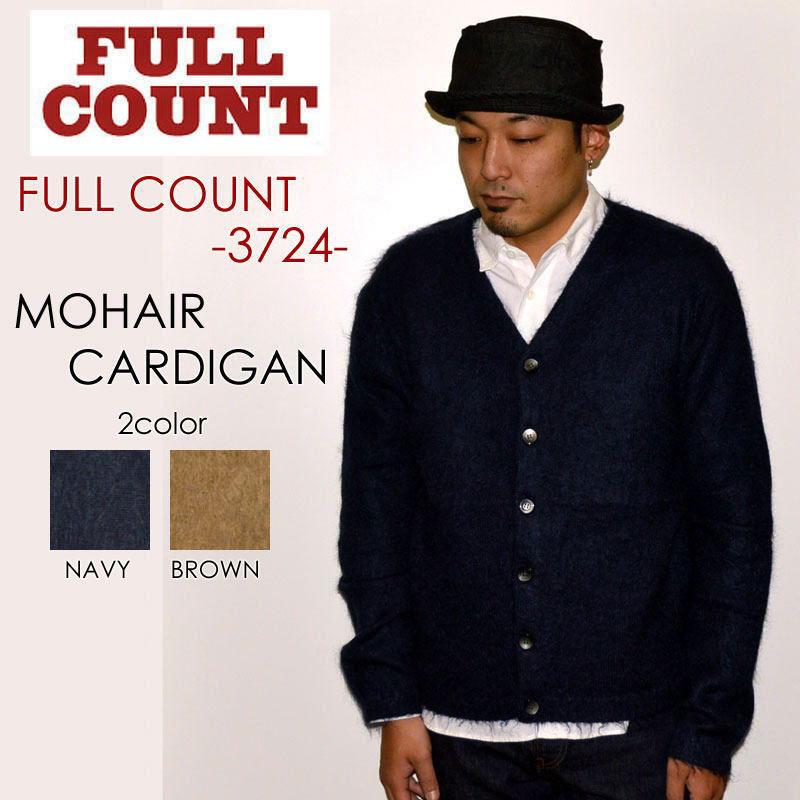 "FULLCOUNT フルカウント、""3724""、MOHAIR CARDIGAN、モヘアカーディガン [スウェット]"