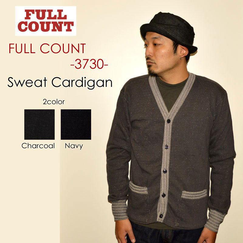 """FULLCOUNT フルカウント、""""3730""""、SWEAT CARDIGAN スウェットカーディガン [スウェット]"""