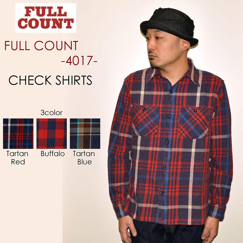 """FULLCOUNT フルカウント、""""4017""""、CHECK SHIRTS、チェックシャツ [L/Sシャツ]"""