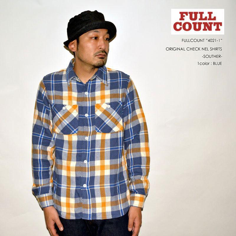 "FULLCOUNT フルカウント、""4021-1""、ORIGINAL CHECK NEL SHIRTS ""SOUTHER""、オリジナルチェックネルシャツ [L/Sシャツ]"