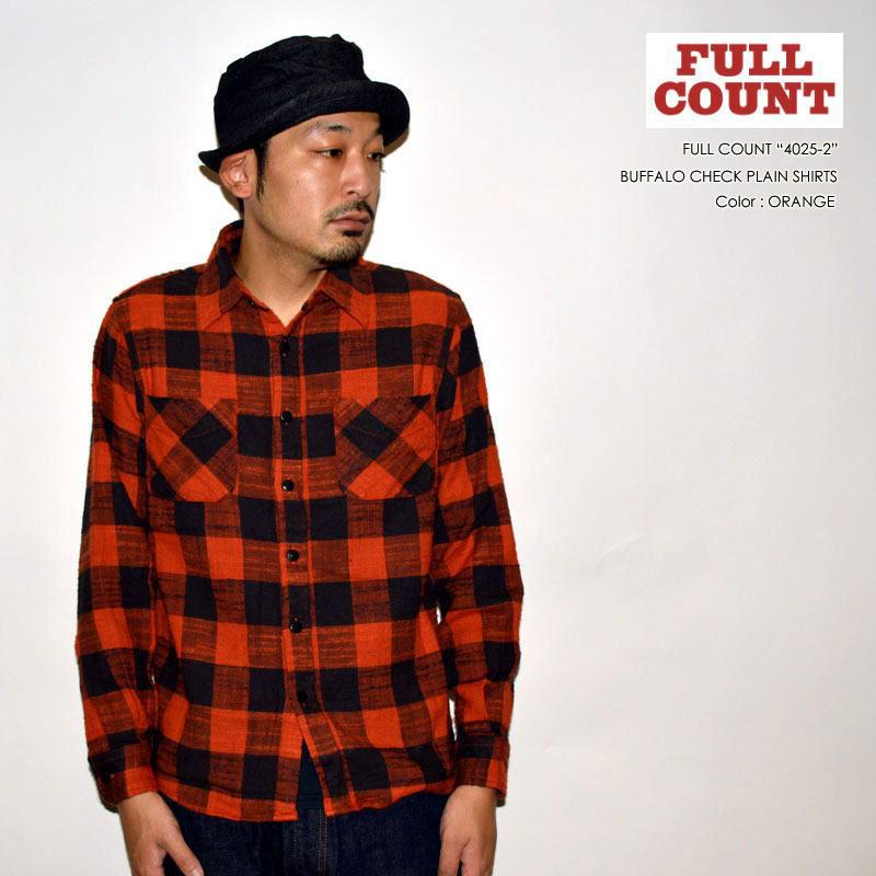 """FULLCOUNT フルカウント、""""4025-2""""、BUFFALO CHECK PLAIN SHIRTS バッファローチェックプレーンシャツ [L/Sシャツ]"""