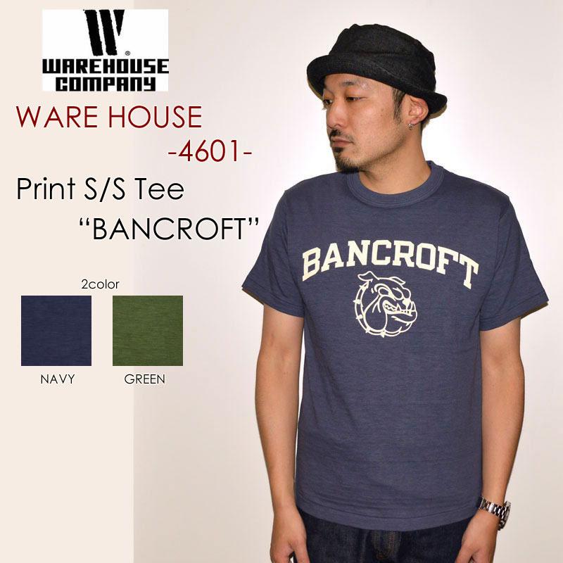 "WAREHOUSE ウエアハウス、""4601 BANCROFT""、プリントS/STee [S/STee]"