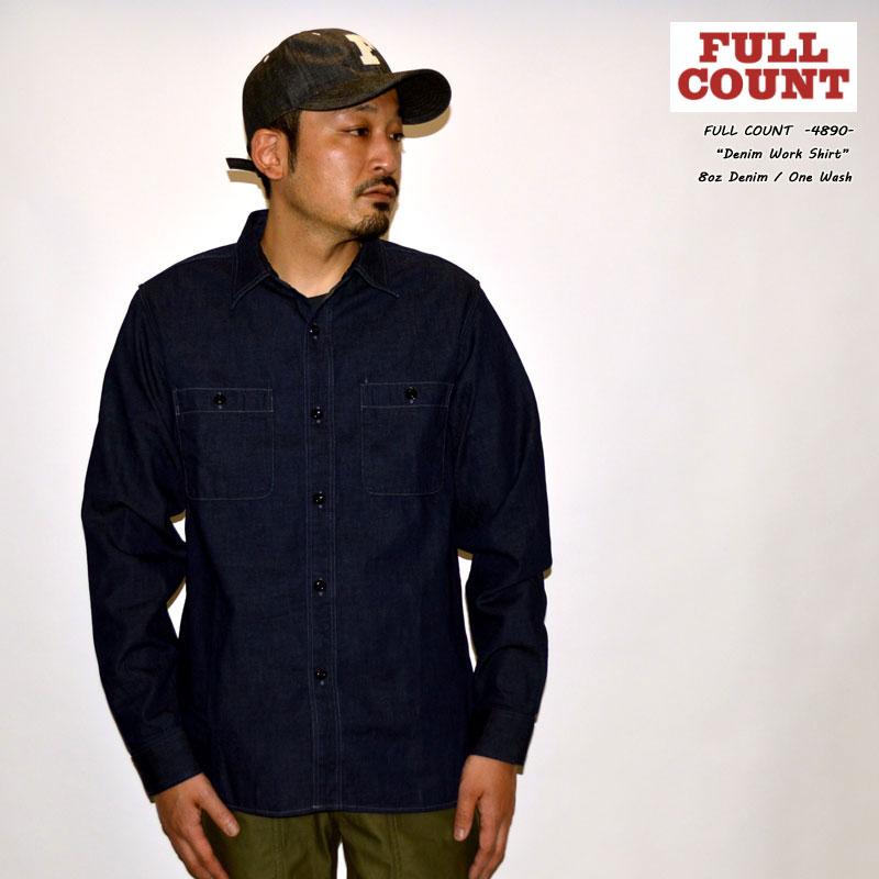 """FULLCOUNT フルカウント """"4890"""" Denim Work Shirt デニムワークシャツ [L/Sシャツ]"""