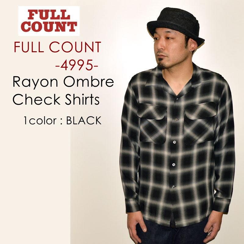 """FULLCOUNT フルカウント、""""4995""""、RAYON OMBRAY CHECK SHIRTS、レーヨンオンブレーチェックシャツ [L/Sシャツ]"""