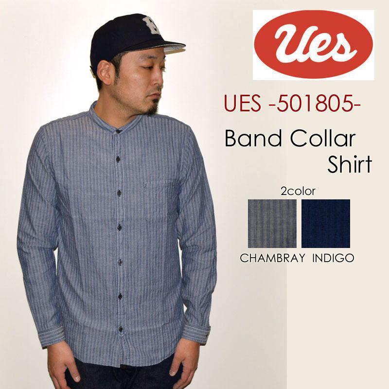 "UES ウエス、""501805""、バンドカラーシャツ [L/Sシャツ]"