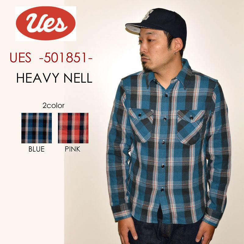 """UES ウエス、""""501851""""、ヘビーネルシャツ [L/Sシャツ]"""