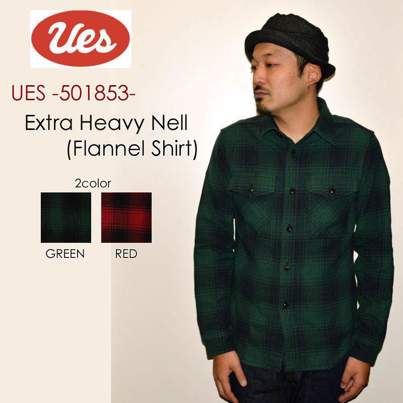 """UES ウエス、""""501853""""、エクストラヘビーネルシャツ [L/Sシャツ]"""