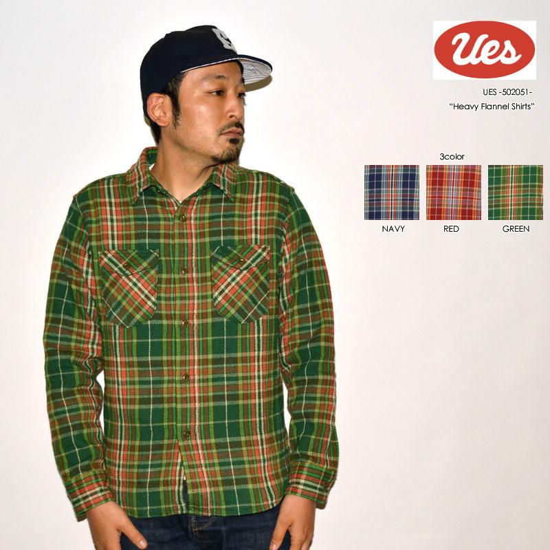 """UES ウエス """"502051"""" ヘビーネルシャツ [L/Sシャツ]"""