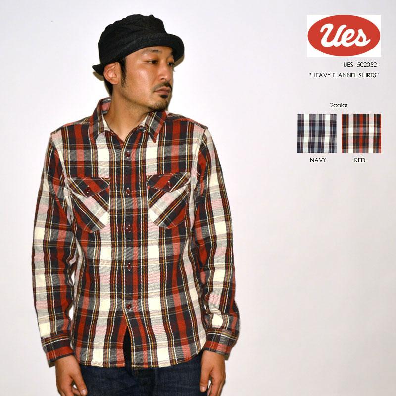 """UES ウエス """"502052"""" ヘビーネルシャツ [L/Sシャツ]"""