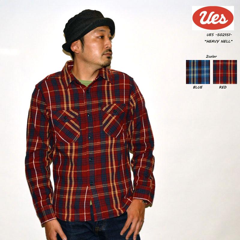 """UES ウエス """"502151"""" ヘビーネルシャツ [L/Sシャツ]"""