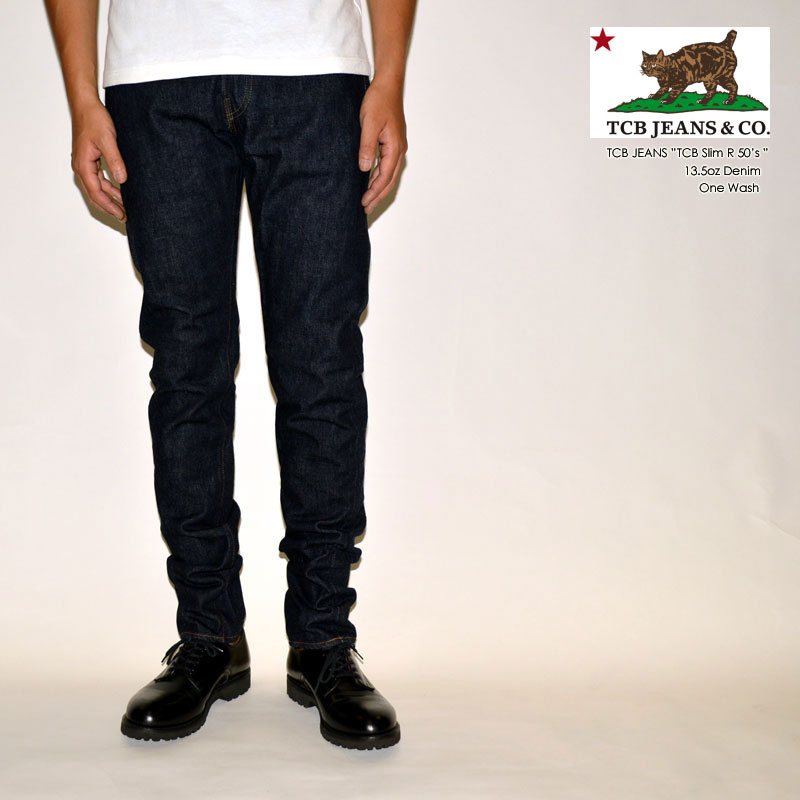 "TCB jeans ""TCB 50's Slim R"" 50's テーパード [タイトストレート]  [ライトオンス] [ヴィンテージ系色落ち]"
