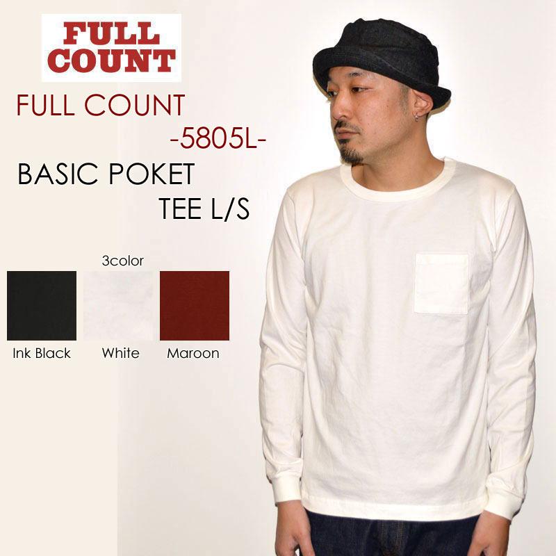"""FULLCOUNT フルカウント、""""5805L""""、BASIC POCKET TEE L/S ベーシックポケットL/STee [L/STee]"""
