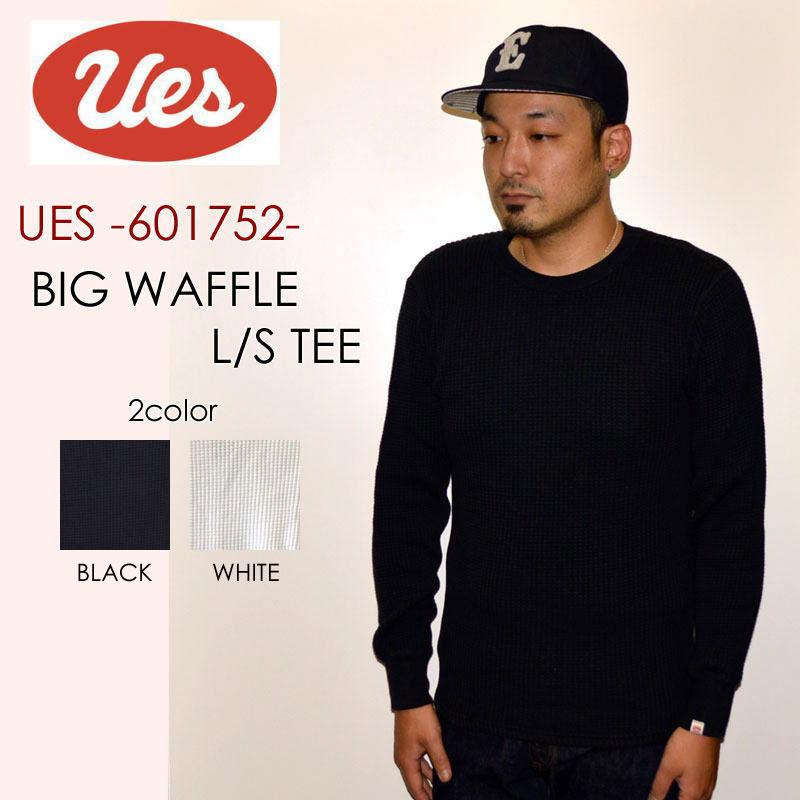 """UES ウエス、""""601752""""、ビッグワッフルTシャツ [L/STee]"""