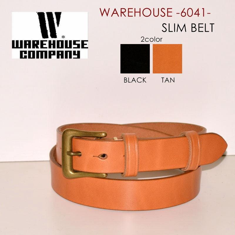 """WAREHOUSE ウエアハウス、""""6041""""、スリムベルト [ベルト]"""