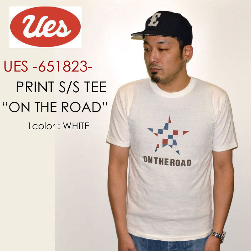 "UES ウエス、""651823""、ON THE ROAD Tシャツ [S/STee]"