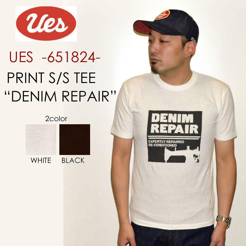 """UES ウエス、""""651824""""、DENIM REPAIR Tシャツ [S/STee]"""