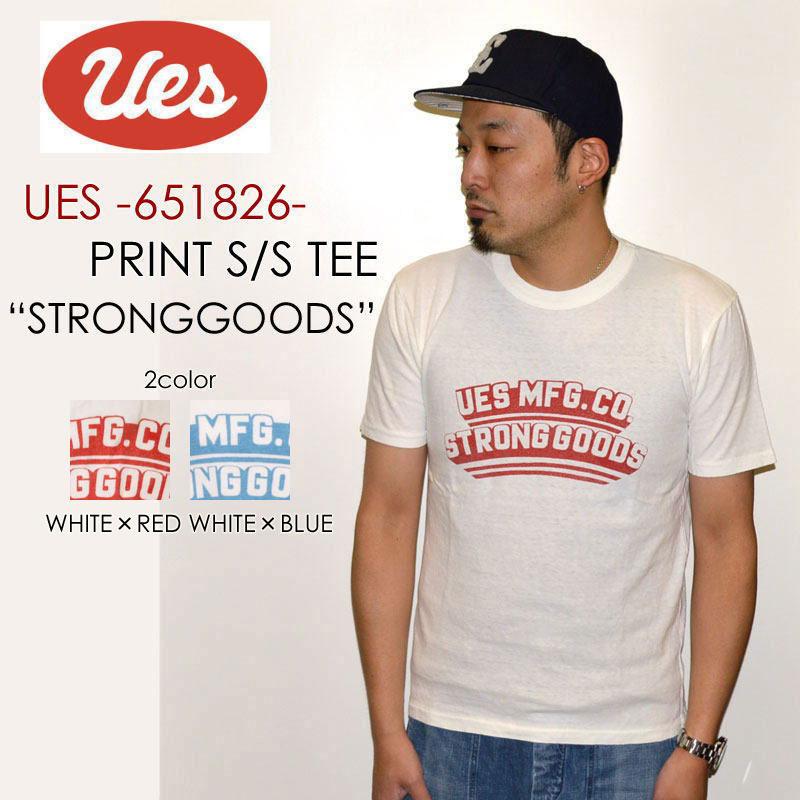"UES ウエス、""651826""、STRONG GOODS Tシャツ [S/STee]"