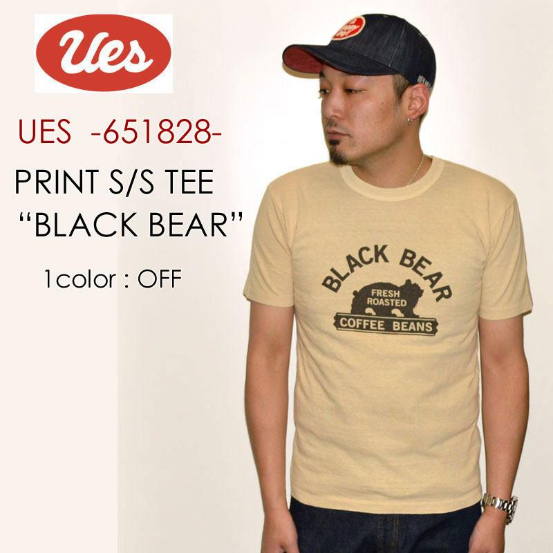 "UES ウエス、""651828""、BLACK BEAR Tシャツ [S/STee]"