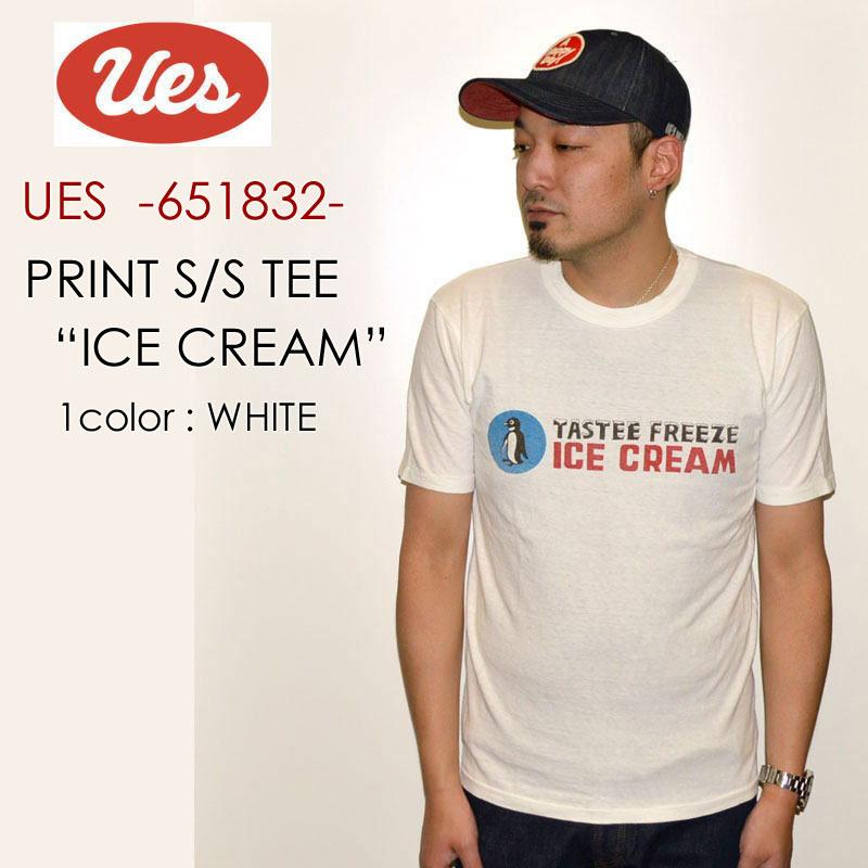 """UES ウエス、""""651832""""、ICE CREAM Tシャツ [S/STee]"""