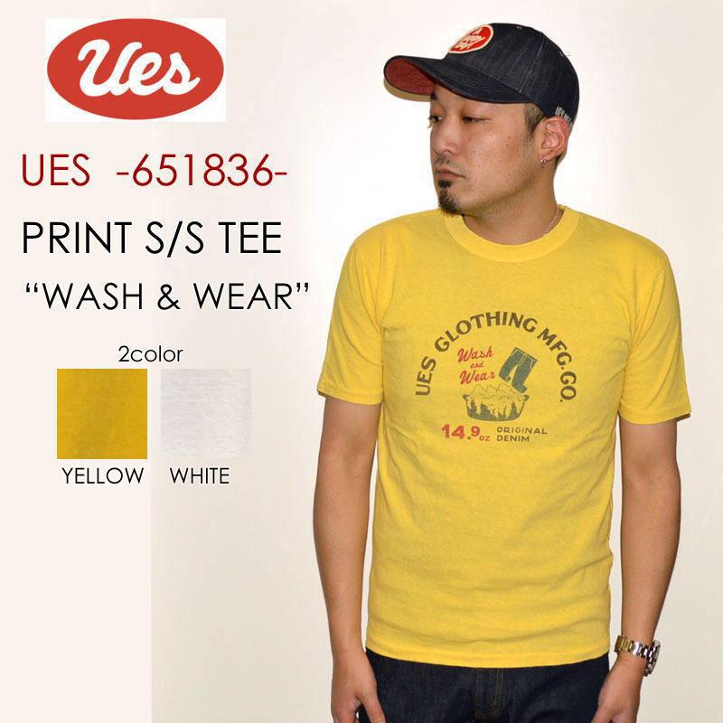 "UES ウエス、""651836""、WASH&WEAR Tシャツ [S/STee]"