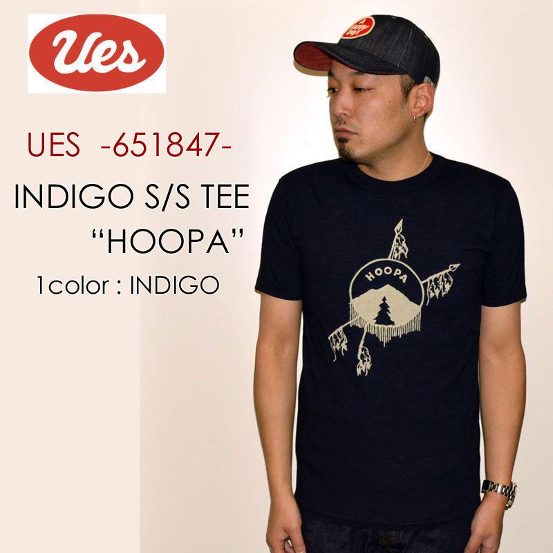 "UES ウエス、""651847""、HOOPA インディゴ Tシャツ [S/STee]"