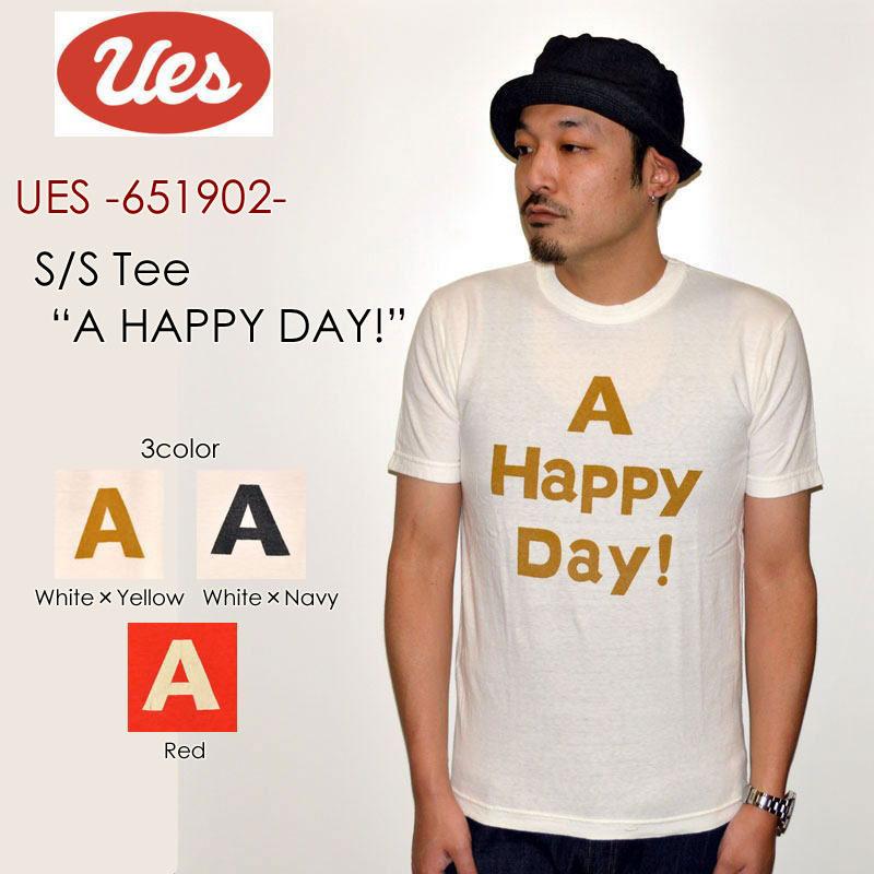"""UES ウエス、""""651902""""、A HAPPY DAY Tシャツ [S/STee]"""