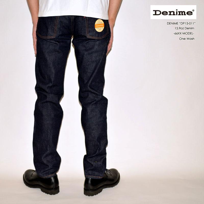 "DENIME ドゥニーム、""DP15-011""、15.9oz Denim 66XX MODEL [タイトストレート][ライトオンス][ヴィンテージ系色落ち]"