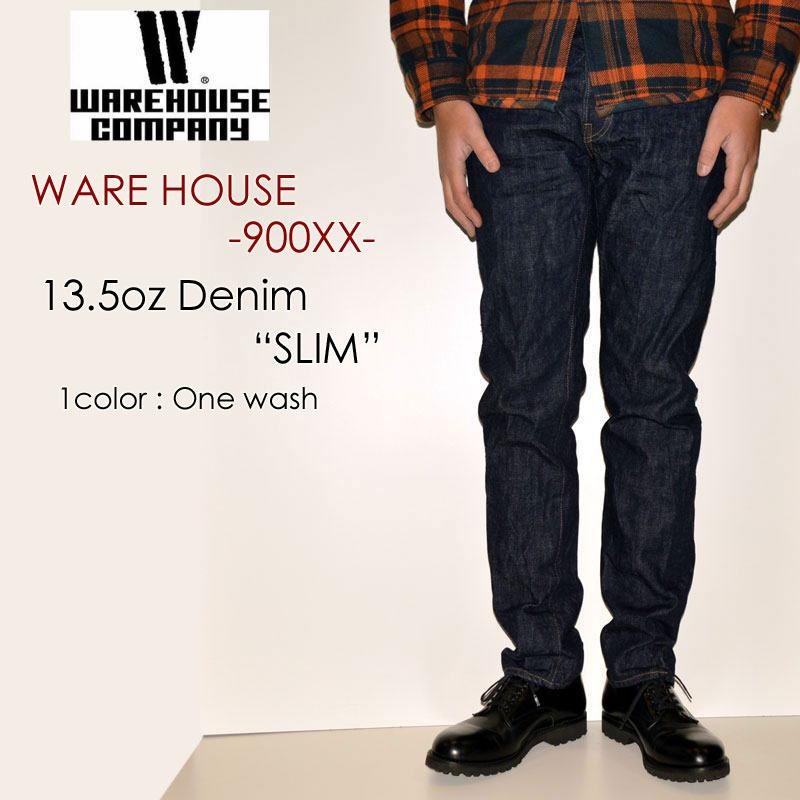 "WAREHOUSE ウエアハウス、""Lot 900XX""、スリムストレートモデル(米綿3州ブレンドコットン) [タイトストレート][ライトオンス][ヴィンテージ系色落ち]"