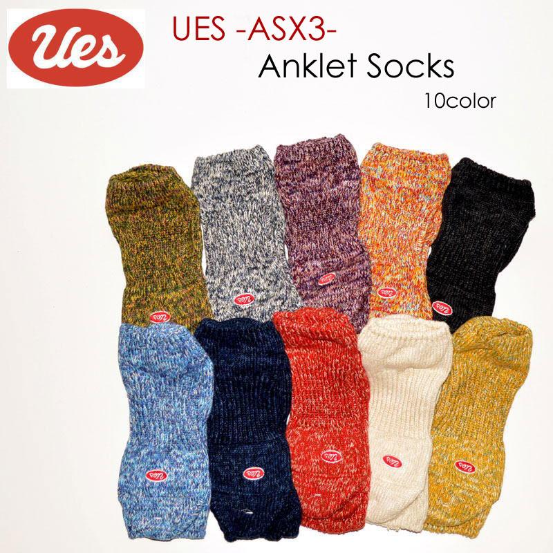 "UES ウエス、""ASX-3""、アンクレットソックス [小物]"