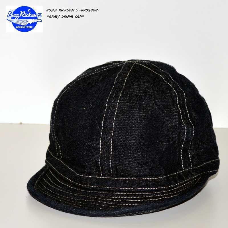 """東洋エンタープライズ、BUZZ RICKSONS バズリクソンズ、""""BR02308""""、アーミーデニムキャップ [小物][帽子]"""