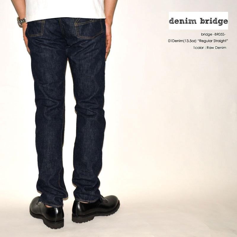 "bridge ブリッジ、""BR05S"" 、13.5oz 01デニム レギュラーストレート [タイトストレート] [ライトオンス] [ヴィンテージ系色落ち]"
