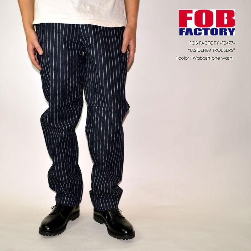"""FOB FACTORY、""""F0477""""、U.S.N デニムトラウザー  [OTHER PANTS][チノパン]"""