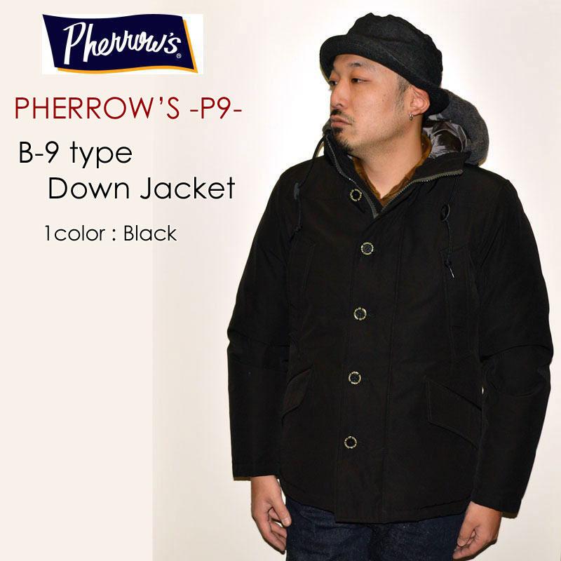 """PHERROW'S フェローズ、""""18W-P-9""""、B-9型 ダウンジャケット [アウター]"""