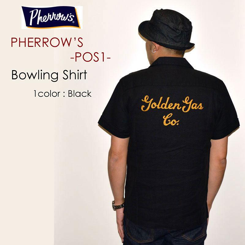 "PHERROW'S フェローズ、""POS1""、オープンカラーシャツ [S/Sシャツ]"