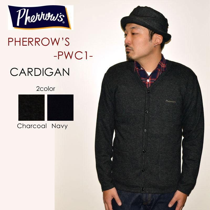 """PHERROW'S フェローズ、""""18W-PWC1""""、ウールカーディガン [スウェット]"""